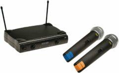Nedis MPWL611BK Draadloze Microfoonset 2-kanaals 2 Microfoons Meegeleverd Gebruiksduur Batterij Tot 6 Uur