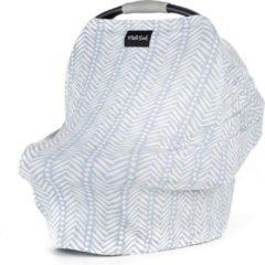 Blauwe Milk Snob Cover SOHO | Premium autostoel luifel en hoes voor baby's | Borstvoedingsdoek & Verzorgingssjaal