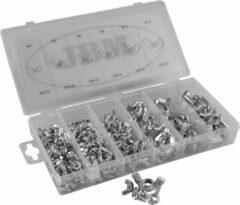 JBM Tools | Assortimentsdoos van vlinder vleugelmoer 150-Delig M4 t/m M10
