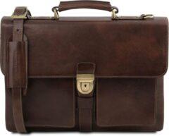 Tuscany Leather Assisi - Leren aktetas - Donkerbruin - TL141825