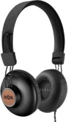 Zwarte House of Marley Positive Vibration 2.0 - Bedrade on-ear koptelefoon - Signature black