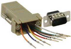 Grijze Valueline CMP-ADAPT-9M D-Sub 9-pin (M) RJ45 (F) Grijs kabeladapter/verloopstukje