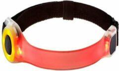 Rode Joggy Safe Expert Veiligheidsarmband Met Led Licht
