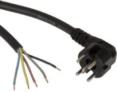 Zwarte Fixapart W4-88530 Ovenkabel met aangegoten perilexstekker 1,50 m
