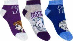 Disney Frozen Sneaker Sokken 3-Pack maat 27-30