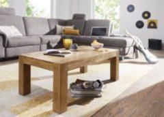 Wohnling WOHNLING Couchtisch MUMBAI Massiv-Holz Akazie 110 cm breit Wohnzimmer-Tisch Design Natur-Produkt Landhaus-Stil Beistelltisch