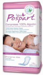 Indasec Pospart Tocological Compresses 100% Cotton 12 Units