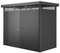 Grijze Biohort Highline H1 donkergrijs metallic 1 deurs - 275 x 155 x 222 cm