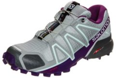 Speedcross 4 Trail Laufschuh Damen Salomon quarry / acai / fair aqua