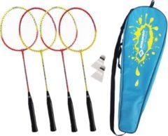Rode Schildkröt Fun Sports - Hoge kwaliteit Badmintonset voor 4 Spelers
