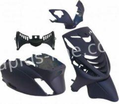 Donkerblauwe APLUS PLAATSET/KAPPENSET ZIP SP PASSEND OP PIAGGIO ZIP 5 DELIG MAT MIDNIGHT BLUE
