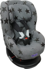 Donkergrijze Dooky Seat Cover Groep 1+ - Grey Star