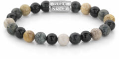 Rebel & Rose Rebel and Rose RR-80051-S Rekarmband Beads Autumn Storm meerkleurig-zilverkleurig 8 mm S 16,5 cm