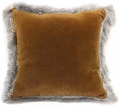 Bruine Imbarro - Sierkussen | Cushion Silvercloud Brown