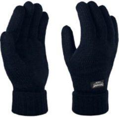 Donkerblauwe Gloves&Co Thinsulate gebreide handschoen - heren - donker blauw - maat XXL