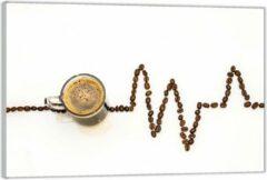 Bruine KuijsFotoprint Plexiglas –Koffie met Koffiebonen– 90x60 (Wanddecoratie op Plexiglas)