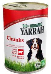 Yarrah Biologische Hondenvoer - Brokjes in Saus Met Brandnetel & Tomaat - 2x 405 gr