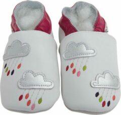 Roze Lait et Miel - Babyslofjes - Leer - 6 tot 12 maanden - Wolkjes