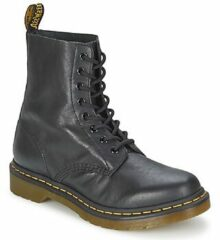 Zwarte Dr. Martens Women's 1460 Pascal Virginia Leather 8-Eye Lace Up Boots - Black - UK 8 - Black