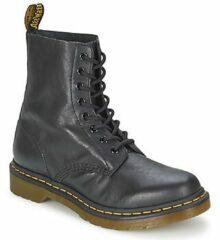 Zwarte Dr. Martens Women's 1460 Pascal Virginia Leather 8-Eye Lace Up Boots - Black - UK 8 - Black