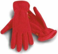 Result Rode warme fleece handschoenen voor volwassenen S