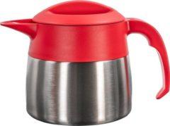 Isoleerkan EasyClean mini 0,9 liter rvs met rood kunststof dop en handgreep