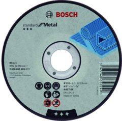 Doorslijpschijf recht standaard voor metaal A 30 S BF, 125 mm, 2,5 mm Bosch Accessories 2608603166 Diameter 125 mm 1 stuks