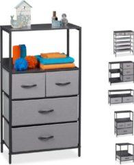 Relaxdays ladekast grijs - tv-meubel - schoenenrek - bijzettafel - nachtkastje - dressoir B