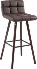 CLP Barhocker LINCOLN V2 mit Kunstlederbezug und Holzgestell I Thekenhocker mit Lehne und Fußstütze I In verschiedenen Farben erhältlich