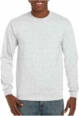 Gildan Heren t-shirt lange mouw lichtgrijs XL