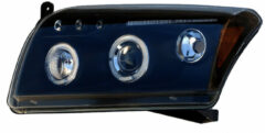 Universeel Set Koplampen Dodge Caliber 2006- - Zwart - incl. Angel-Eyes