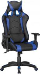 Amstyle AMSTYLE® Bürostuhl SCORE Leder-Optik Schwarz / Blau Schreibtischstuhl Chefsessel Gaming Chair Drehstuhl Sport Racing Optik