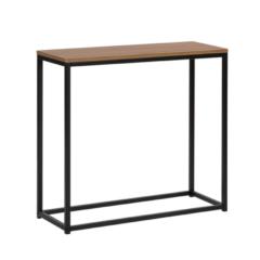 Beliani DELANO - Kaptafel - Donkere houtkleur