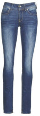 Blauwe Straight Jeans G-Star Raw Midge Mid Straight Wmn