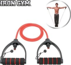 Rode Iron Gym Weerstandsband Tube Trainer Verstelbaar - Fitness Elastiek