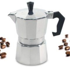 Alu Espressokocher eckig 6 Tassen Krüger Alu