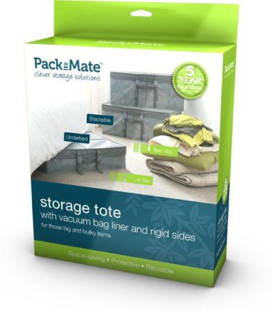 Afbeelding van Transparante Packmate Vacuüm Opbergzak met box - Gemakkelijk kleding opbergen onder het bed