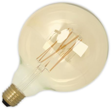Afbeelding van Calex Globelamp LED filament goud 4W (vervangt 40W) grote fitting grote fitting E27 125mm