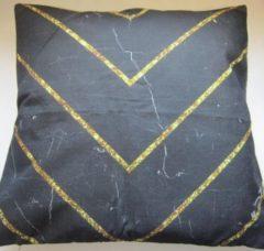 Beige ZoeZo Design Sierkussen, linnen-look, 45 x 45 cm