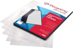 Pergamy omslagen uit PP ft A4, 280 micron, pak van 100 stuks, transparant