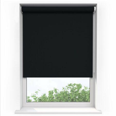 Afbeelding van Sunsta Rolgordijn Verduisterend Zwart - 60 x 190 cm - Inkortbaar