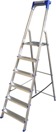 Afbeelding van Express Huishoudtrap aluminium 6-treden