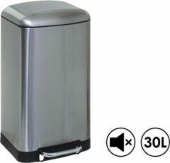 Made4Home® – Pedaalemmer | Prullenbak | Vuilbak | 30L (liter) | Inox | Geruisloos deksel | Softclose | Anti-slip | Grote pedaal | Verwijderbare binnenemmer