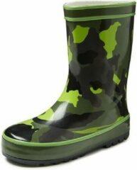 Merkloos / Sans marque Groene peuter/kinder regenlaarzen camouflage - Rubberen camouflage print laarzen/regenlaarsjes voor kinderen 23