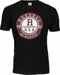 Zwarte Russell Athletic Men SS Crewneck Tee Men SS Crewneck Tee Heren T-shirt Maat L