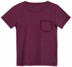 Rode Minibär Shirt met korte mouwen, bessenrood 134/140