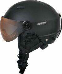 Zwarte STX Helmet Visor Junior Black Skihelm - Black - Unisex - Maat XS
