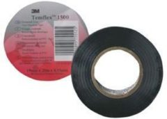 TemFlex 1500 15x10sw - Adhesive tape 10m 15mm black TemFlex 1500 15x10sw
