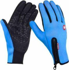 Merkloos / Sans marque Touch Handschoenen – Touchvinger Handschoenen – Touchscreen Handschoenen – Ski/Snowboard/Fiets/Outdoor Handschoenen – Waterafstotend – Winddicht – Thermo – Stretch – Fleece – Unisex – Maat M - Blauw