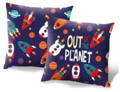 Kids Licensing Kussen Out Of The Planet Junior 45 X 45 Cm Polyester Blauw